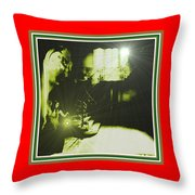 Night Search No. 14 H B With Decorative Ornate Printed Frame. Throw Pillow