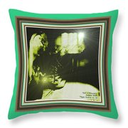 Night Search No. 14 With Decorative Ornate Printed Frame. Throw Pillow