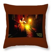 Night Search No. 20 L A Throw Pillow