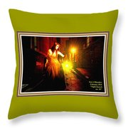 Night Search No. 20 L A With Decorative Ornate Printed Frame. Throw Pillow
