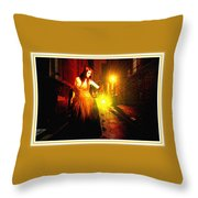 Night Search No. 20 L B With Decorative Ornate Printed Frame. Throw Pillow
