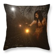 Night Search No. 8 H A Throw Pillow