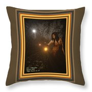 Night Search No. 8 H A With Decorative Ornate Printed Frame Throw Pillow