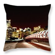 Night Shots Calgary Alberta Canada Throw Pillow