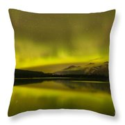 Night Skies And Northern Lights Throw Pillow