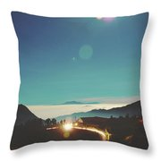 Night Sky Around Mount Bromo In Java, Indonesia Throw Pillow