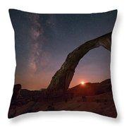 Night Sky At Corona Ach Throw Pillow