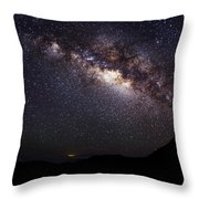 Night Sky - Haleakala Summit Throw Pillow