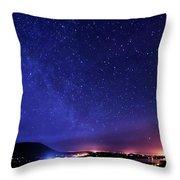 Night Sky Over County Mayo Throw Pillow