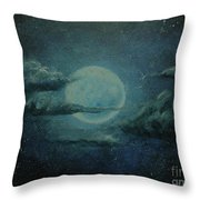 Night Sky Peek-a-boo Throw Pillow