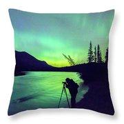 Night Sky Photographer Throw Pillow