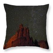 Night Sky Red Rock 2733 Throw Pillow