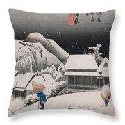 Night Snow Throw Pillow