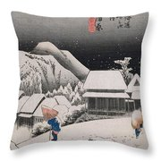 Night Snow Throw Pillow