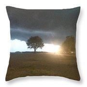 Night Storm Throw Pillow