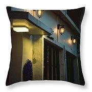 Night Street Cafe Throw Pillow