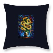 Night Sunflowers Throw Pillow