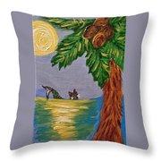 Night-swimming Mercat Throw Pillow
