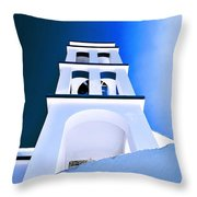 Night Taking Over The Day Of Church In Greece Crete 2 Throw Pillow