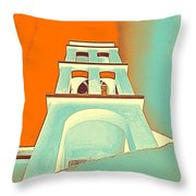 Night Taking Over The Day Of Church In Greece Crete 3 Throw Pillow