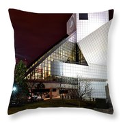 Night Time At The Rock Hall Throw Pillow