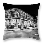 Night Time In The City Of New Orleans I Throw Pillow