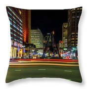 Night Time In The D Throw Pillow