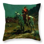 Night Time In Wyoming Throw Pillow