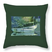 Night Time On Boot Key Throw Pillow