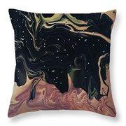 Night Time On Sahara Throw Pillow