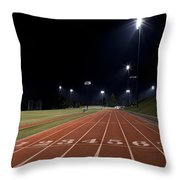 Night Time Run Throw Pillow