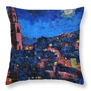 Night Time View Of Cork City Throw Pillow