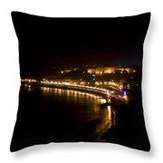 Night Town Throw Pillow