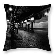 Night Train Throw Pillow