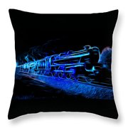 Night Train To Romance Throw Pillow by Aaron Berg