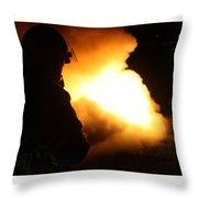 Night Training Throw Pillow