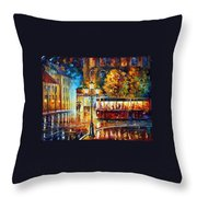Night Trolley Throw Pillow