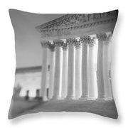 Night Us Supreme Court Washington Dc Throw Pillow