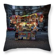 Night Vendor Throw Pillow