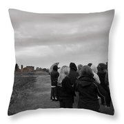 Night Vision Ghost Story In Bradgate Park. Throw Pillow