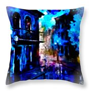 Night Walking In New Orleans Throw Pillow