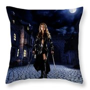 Night Warrior Throw Pillow