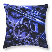 Night Watch Gears Throw Pillow