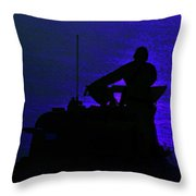 Night Watch Over The Pacific Throw Pillow