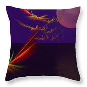 Night Wings Throw Pillow
