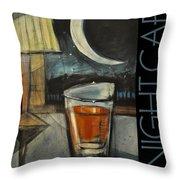 Nightcap Poster Throw Pillow