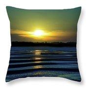 Nightfall At The Shore Throw Pillow