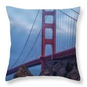 Nightfall Over Golden Gate Throw Pillow