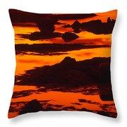 Nightfall Silhouettes Throw Pillow