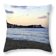Nightfalls Over The Mediterranean Throw Pillow